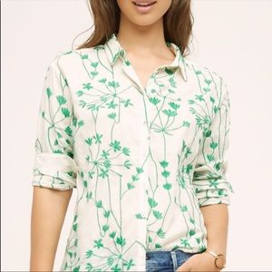 Holding Horses Embroidered Vines Button Down